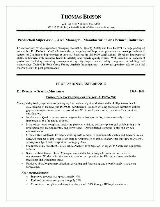12 Supervisor Duties Resume Resume describe your supervisory ...