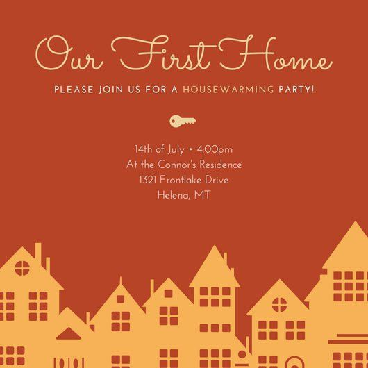 Housewarming Party Invitation - Templates by Canva