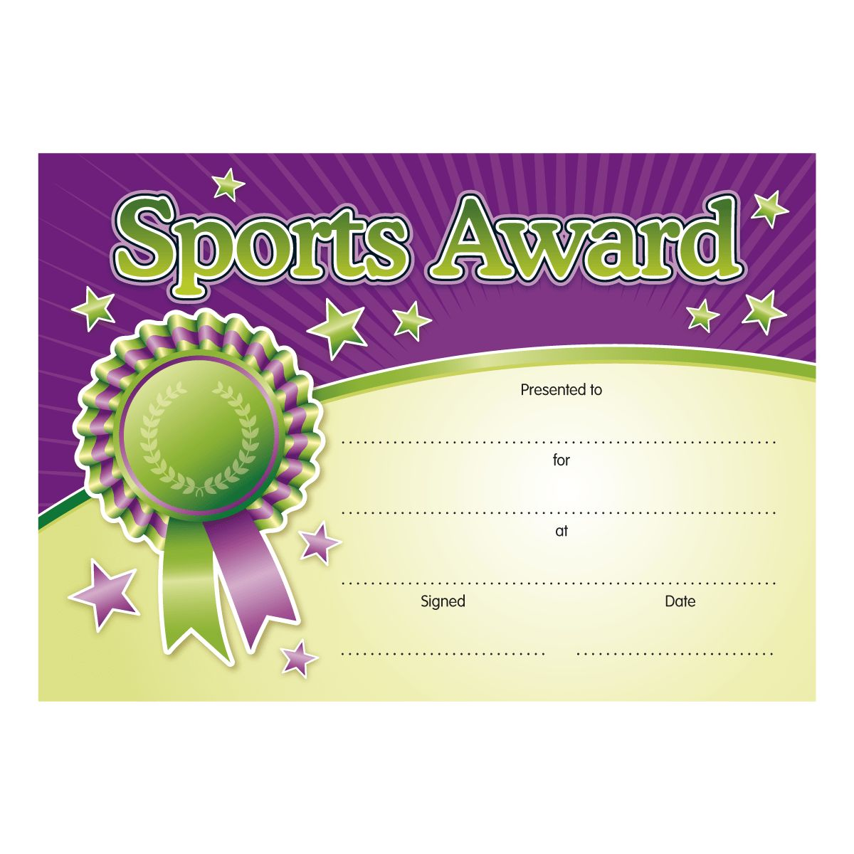Sports Award | Children's Certificates | Brainwaves