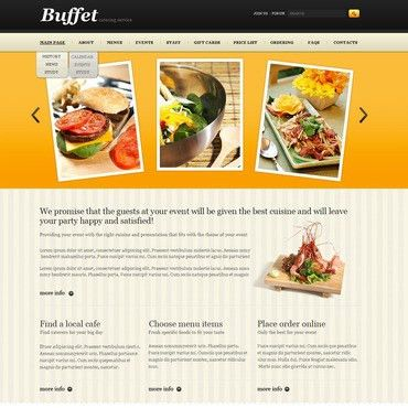 Catering Service Website Templates