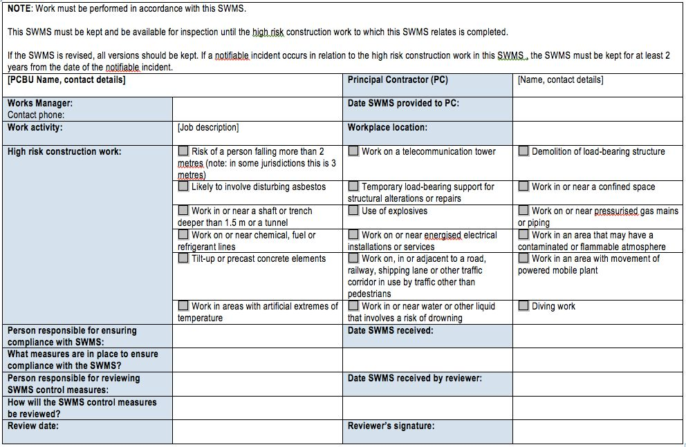 Generic Risk Assessment Template