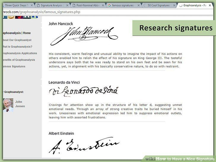 How to Have a Nice Signature: 11 Steps (with Pictures) - wikiHow