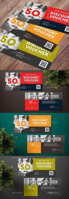 Gift voucher template, premium certificate coupon, vector graphic ...