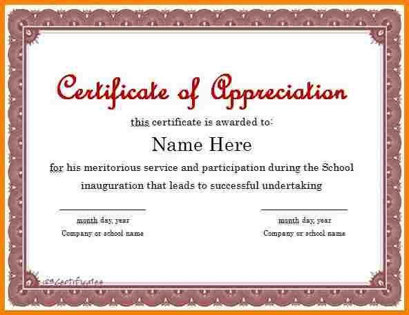 Examples Of Certificates Of Appreciation Wording | Manager ...