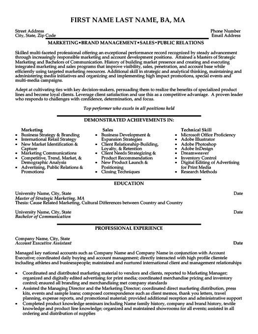 advertising account executive resume