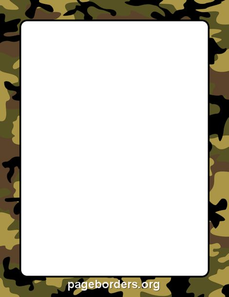 Camouflage Border: Clip Art, Page Border, and Vector Graphics