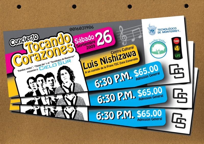 25 Awesome Examples Of Concert Ticket Designs | Top Design ...
