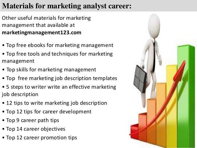 Management Analyst Job Description. 6 Materials For Marketing ...