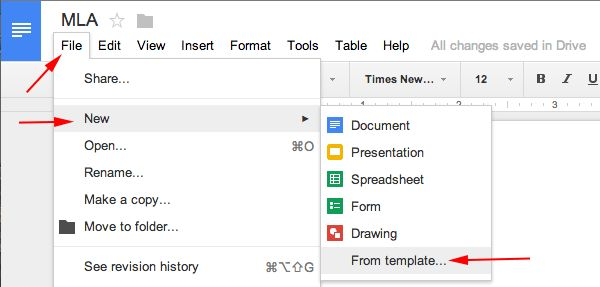 MLA Format Google Docs - MLA Format