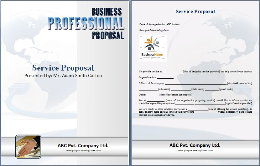 Sample Service Proposal Template | Proposal Templates