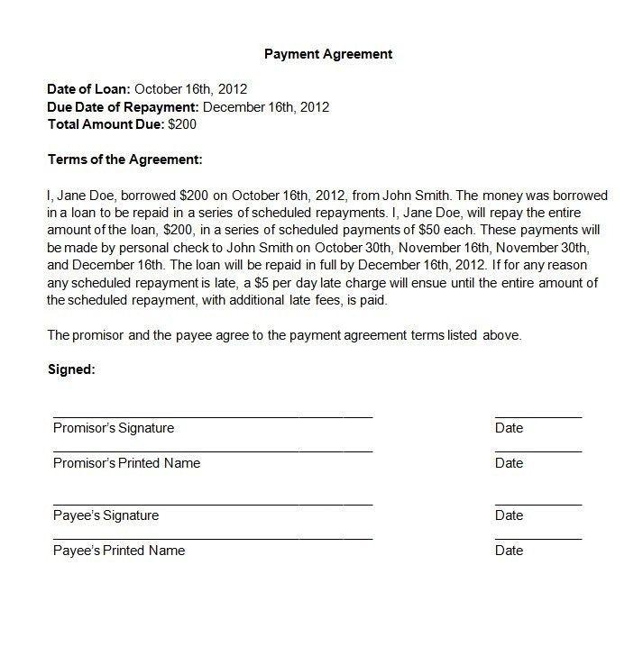 Sample Payment Agreement Sample Payment Agreement 12 Documents In – Payment Agreement Contract