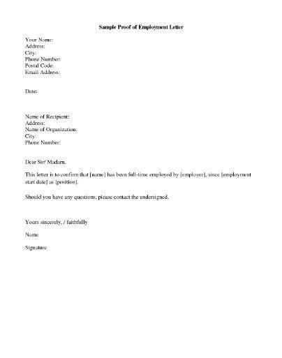 Proof Address Letter Sample - Sample Resume Cover Letter Format