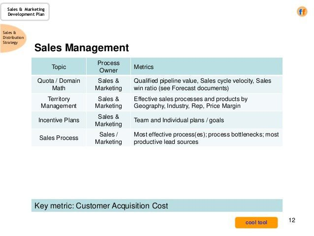 Sales & Marketing Development Plan - a template for the CRO