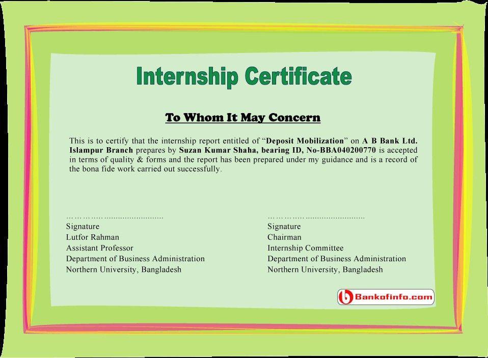 Internship Report Acknowledgement Sample For Internship Report ...