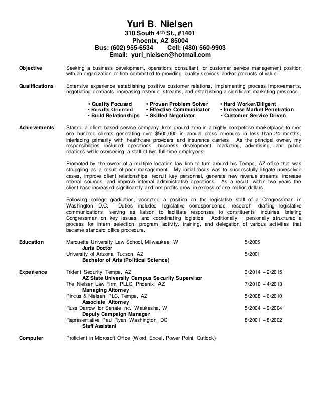 Resume Background Summary
