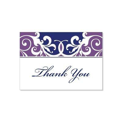 Purple & Blue Thank You Card Templates - Jordana Plum Do It ...