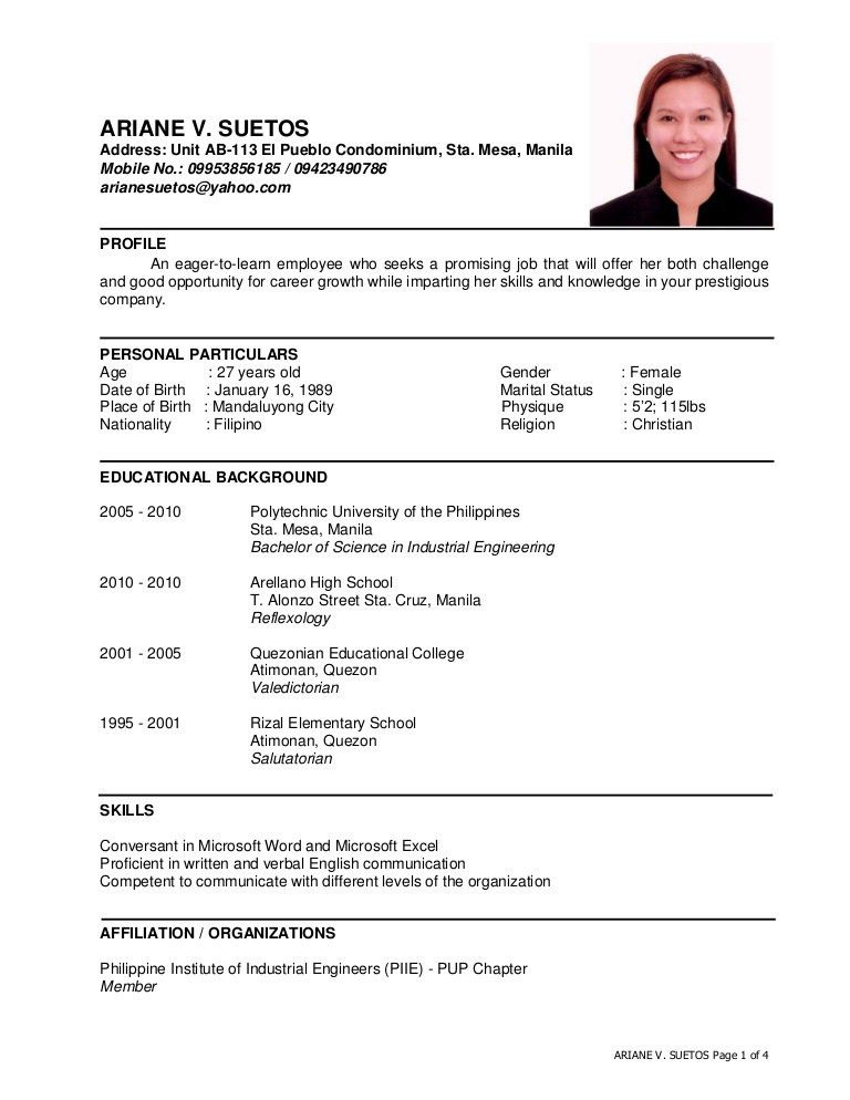 ARIANE SUETOS RESUME - May2016