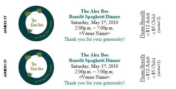 8 Best Images of Dinner Event Tickets Sample - Benefit Plate Sale ...
