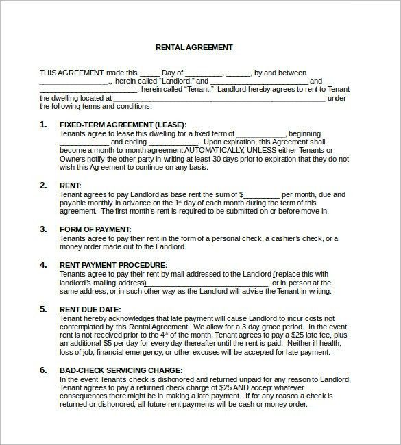 Free Rental Agreement Template - 12+ Free Word, PDF Documents ...