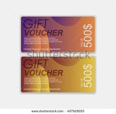 Gift Voucher Template Premium Pattern Envelope Stock Vector ...