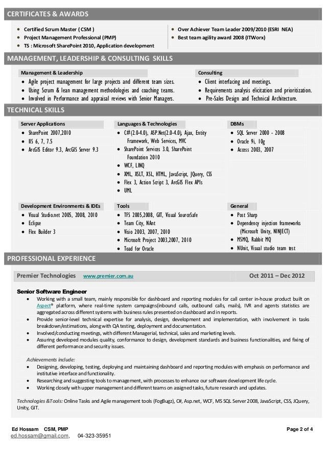 master resume best resume sample. certified scrum master resume ...