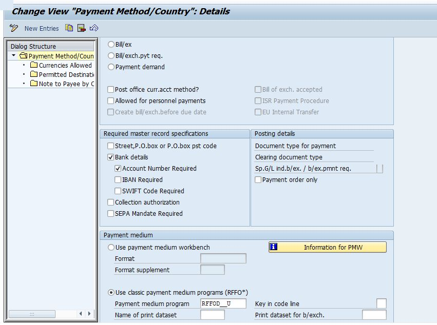 Payment Advice configuration and activation for different kinds of ...