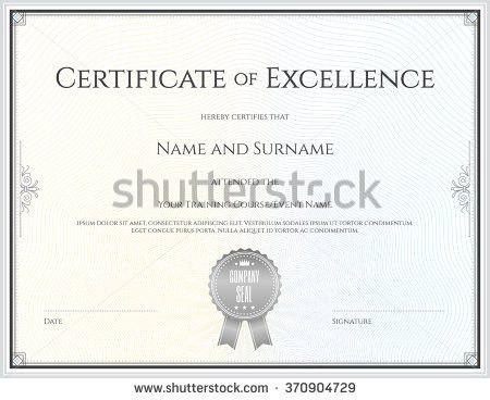 Certificate Excellence Template Vector Achievement Graduation ...