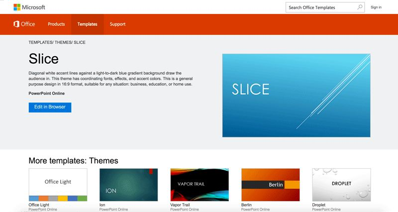 office powerpoint theme