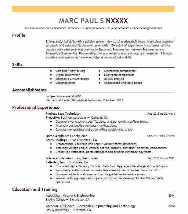 Download Technology Resume | haadyaooverbayresort.com
