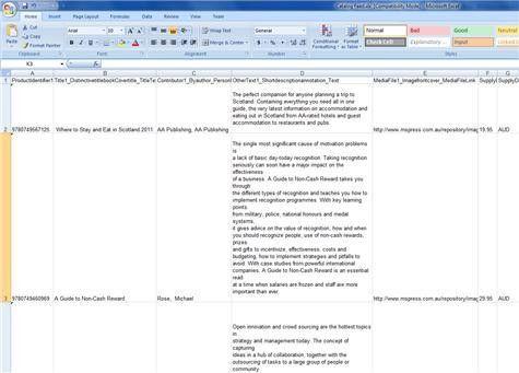 Create a Catalog from ONIX metadata using ONIXEDIT and Microsoft ...