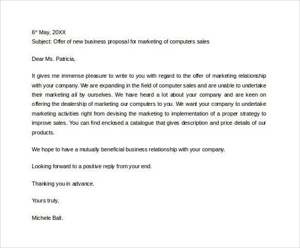 Sample Business Proposal Letter For Partnership - Huanyii.com