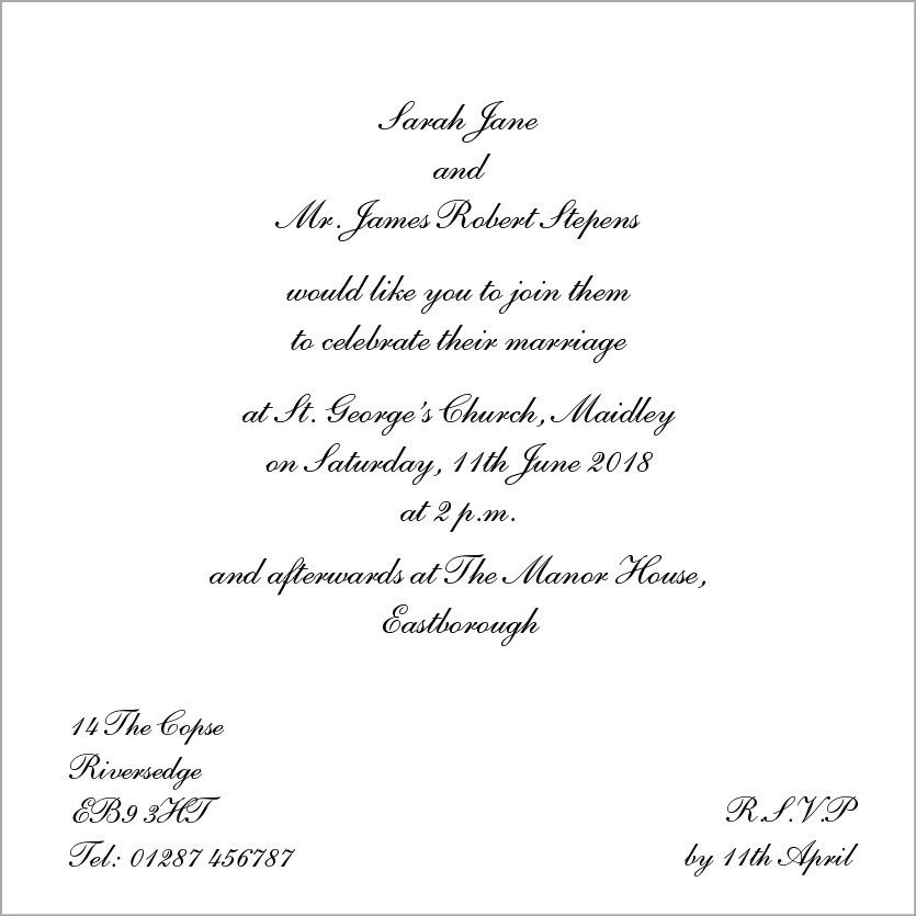Wedding Invitation Word Template | Invitation Ideas