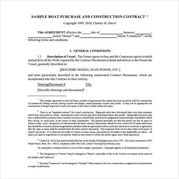 Sample Boat Purchase Agreement - 6+ Free Documents Download in PDF ...