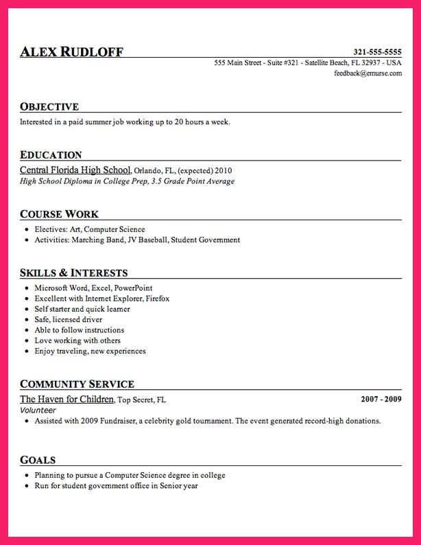 examples of high school resume 10 high school resume templates