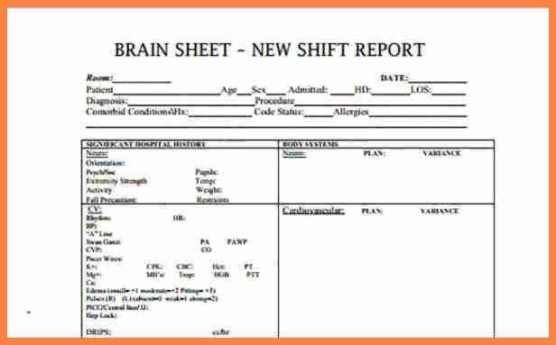 6+ nursing shift report template | Invoice Example 2017