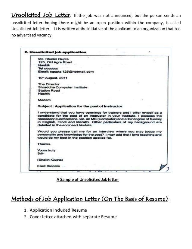 Job letter & resume writing