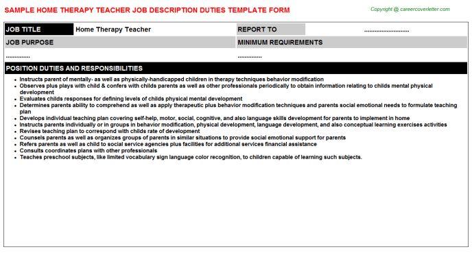 Geography Teacher Job Descriptions