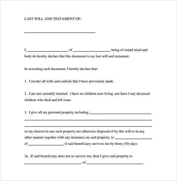 Last Will and Testament Forms - 6+ Download Free Documents in PDF ...