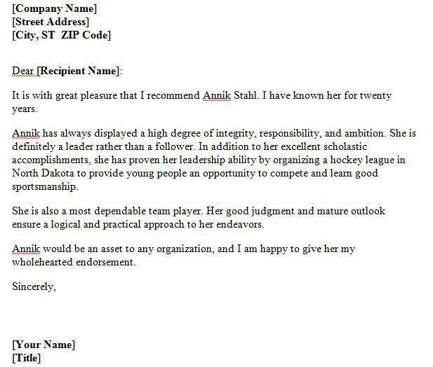 Personal Recommendation Letter For A Friend Sample - Compudocs.us