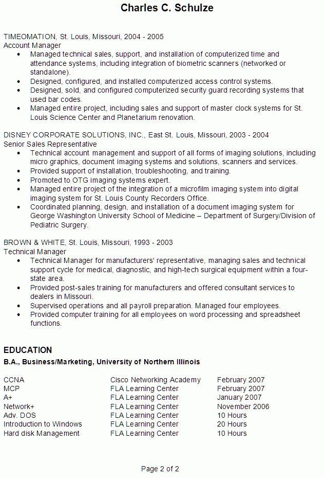 resume sample for an it professional susan ireland resumes - Professional It Resume