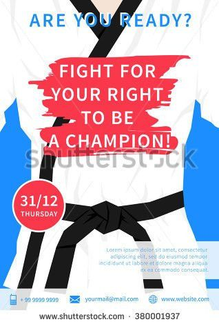 Vector Karate Competition Flyer Template Slogan Stock Vector ...
