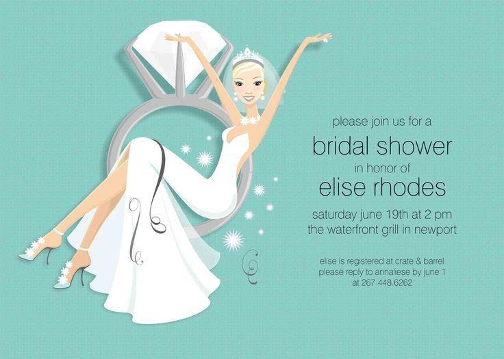 Blank Bridal Shower Invitations Templates | almsignatureevents.com