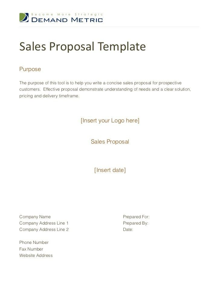 28+ Simple Sales Proposal Template | Doc 600700 Sample Sales ...