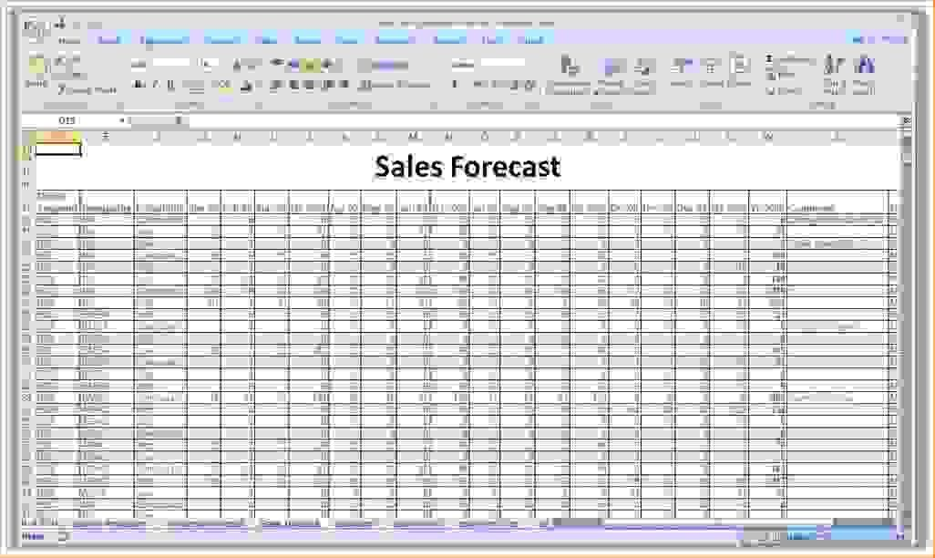 8+ sales forecast spreadsheet | Procedure Template Sample