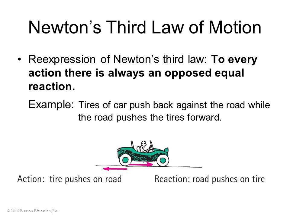 NEWTON'S THIRD LAW OF MOTION - ppt video online download