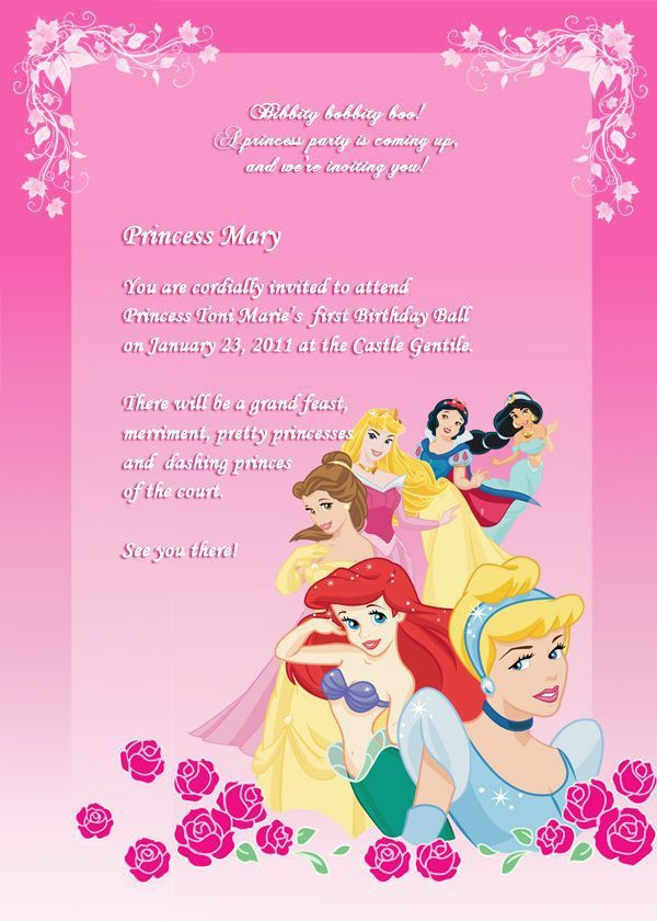 Top 25+ best Disney princess invitations ideas on Pinterest ...