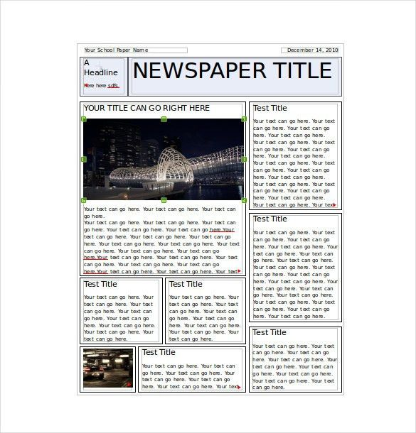 Classroom Newspaper Template – 8+ Free Word, PDF, PPT Documents ...
