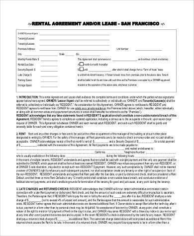 Sample Rental Agreement Forms - 23+ Free Documents in Word, PDF