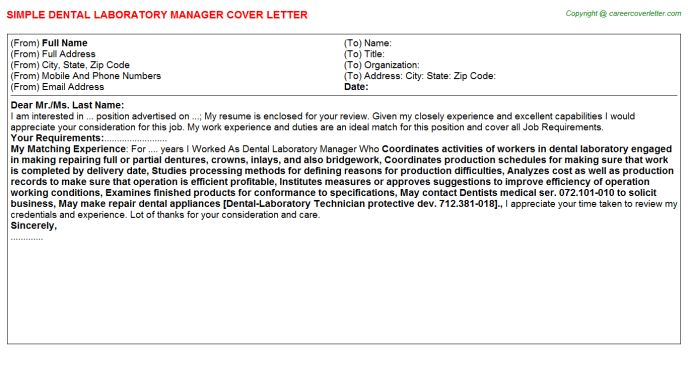 Flow Cytometry Laboratory Manager Cover Letters