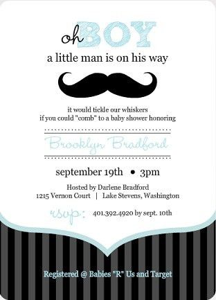 Baby Shower Invitation Wording - It's A Boy! | PurpleTrail